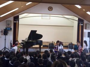 幼稚園スプリングコンサート 津軽三味線&ピアノ『陽影月-HIKAGETSU-』 のコンサート