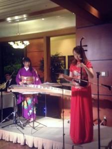 ヒルトン東京ベイホテル 琴&二胡のコラボレーション演奏