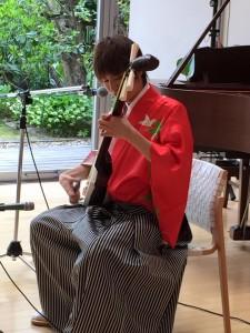 ジパング舎 百花百草「チューリップフェア」津軽三味線コンサート