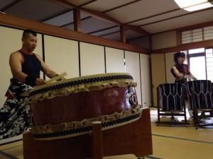 料亭旅館 三田清 披露宴 和太鼓演奏
